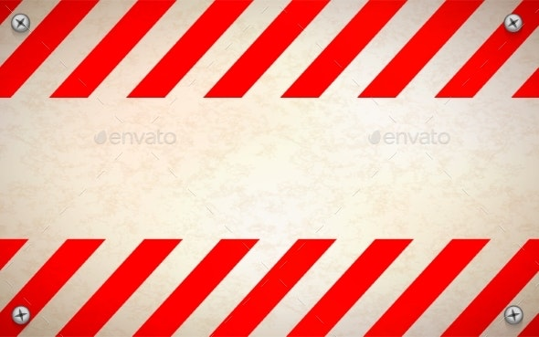 Red and White Blank Warning Sign Template - Backgrounds Decorative