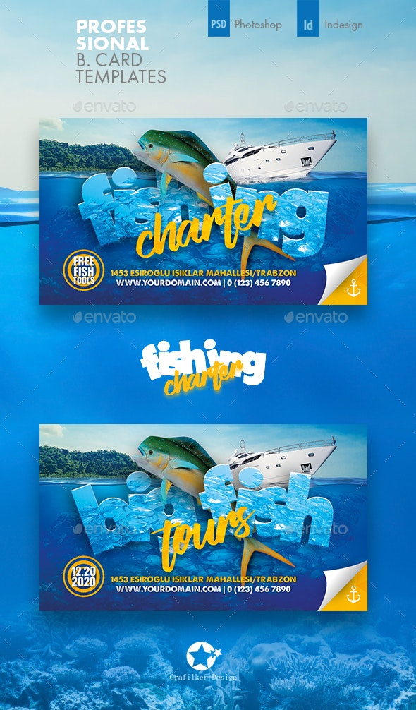 Fishing Tour Business Card Templates - Corporate Business Cards