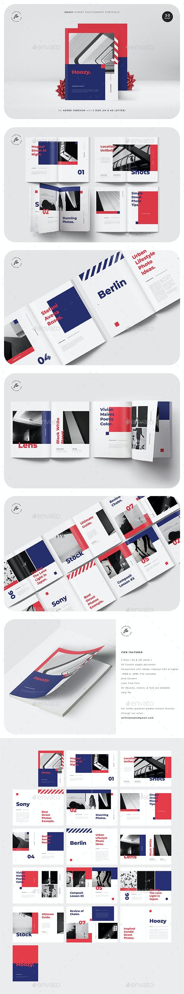 Hoozy Street Photography Portfolio - Magazines Print Templates