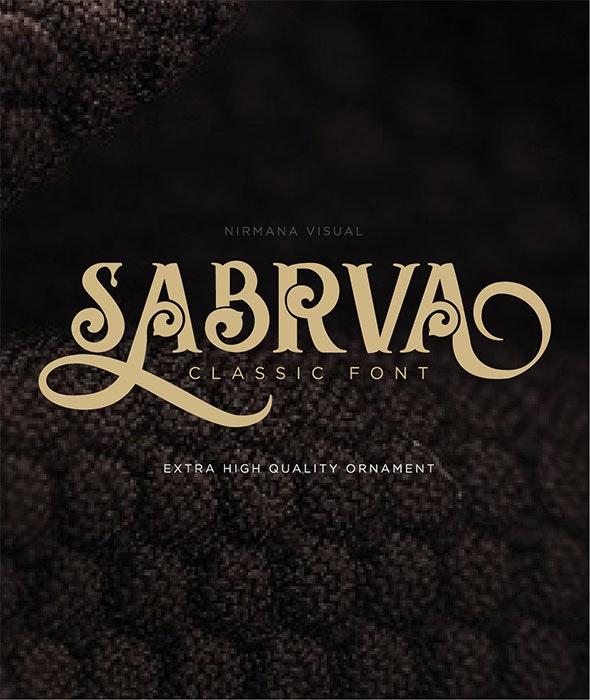 Sabrva - Decorative Fonts