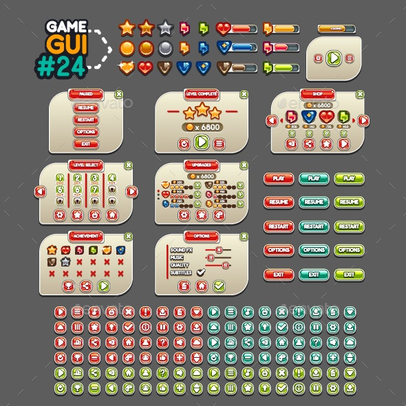 Game GUI #24 - User Interfaces Game Assets