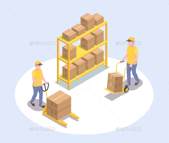 Cargo Storage Workers Composition - Industries Business