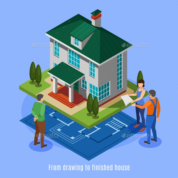 House Construction Phases Background - Buildings Objects