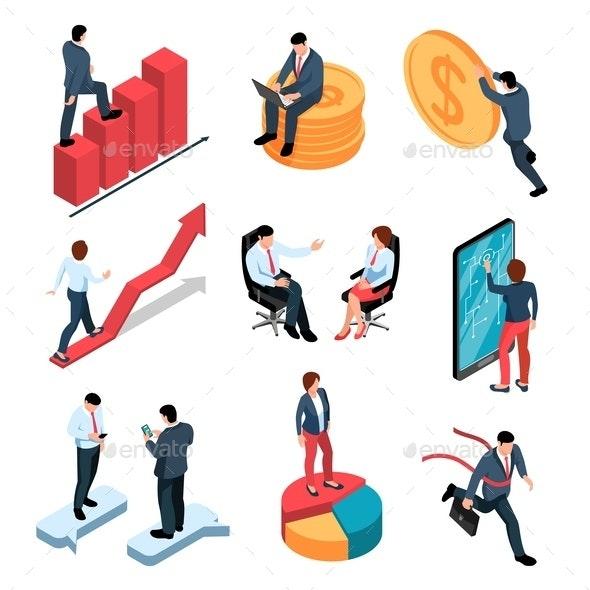 Businesspeople Isometric Set - People Characters