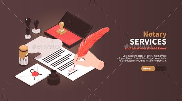 Notary Services Horizontal Banner - Miscellaneous Conceptual