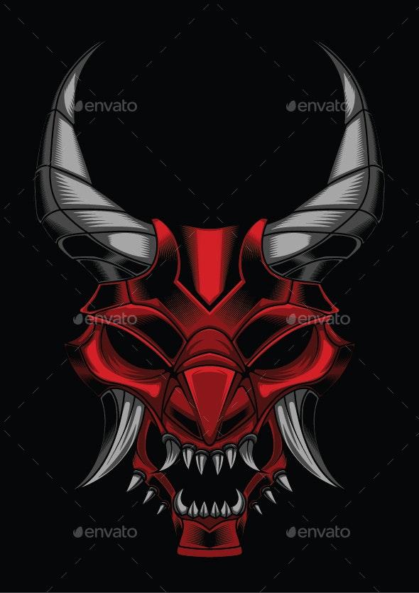 Vector Illustration of Samurai Ronin Devil - Tattoos Vectors