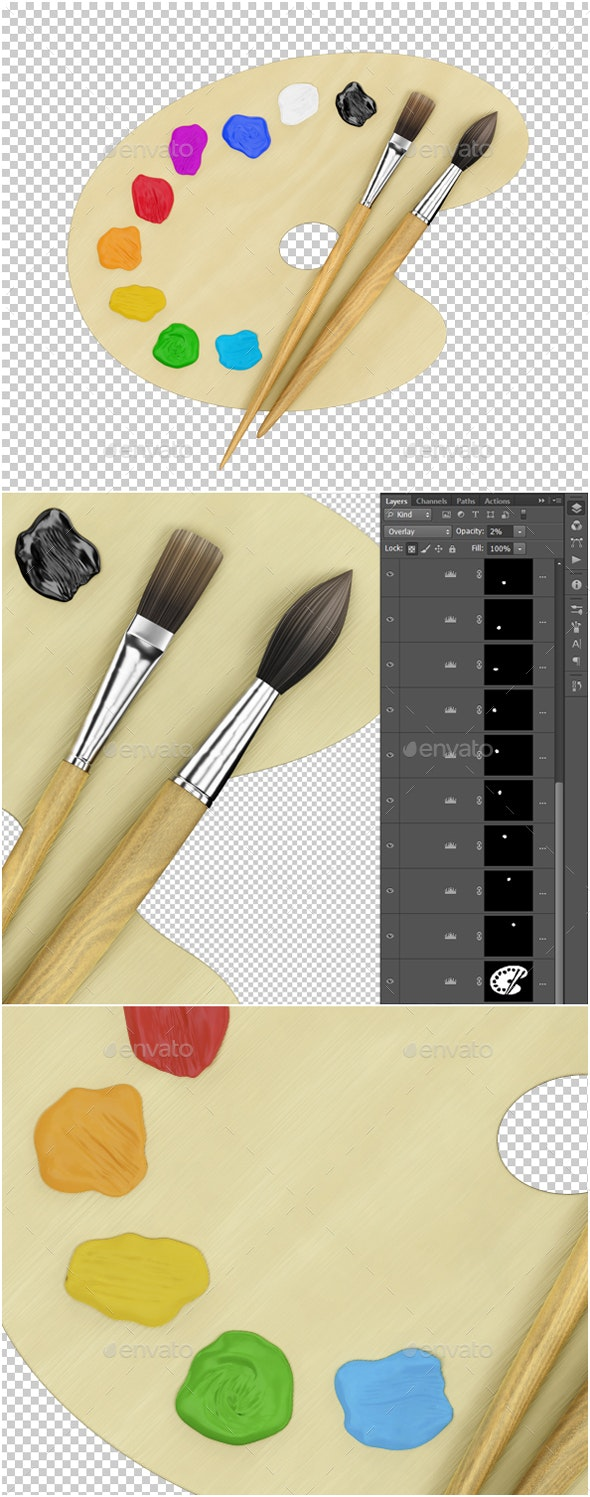 Art Painting Supplies - Objects 3D Renders