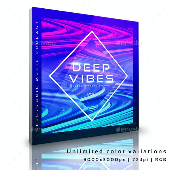 Deep Vibes Electronic Music Cover Album Template