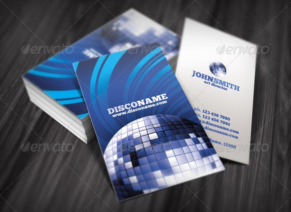 Disco Business Card - Industry Specific Business Cards