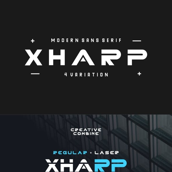 XHARP Futuristic Modern Font
