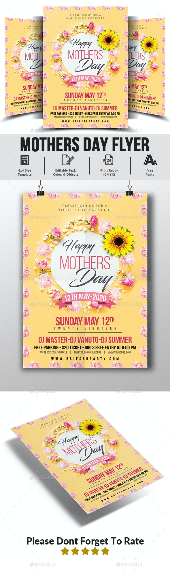 Mothers Day Flyer Templates - Clubs & Parties Events