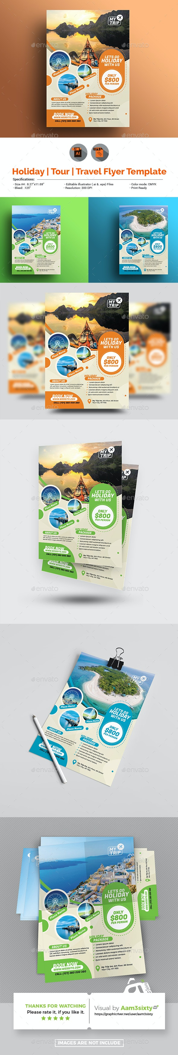 Travel Flyer Template - Holidays Events