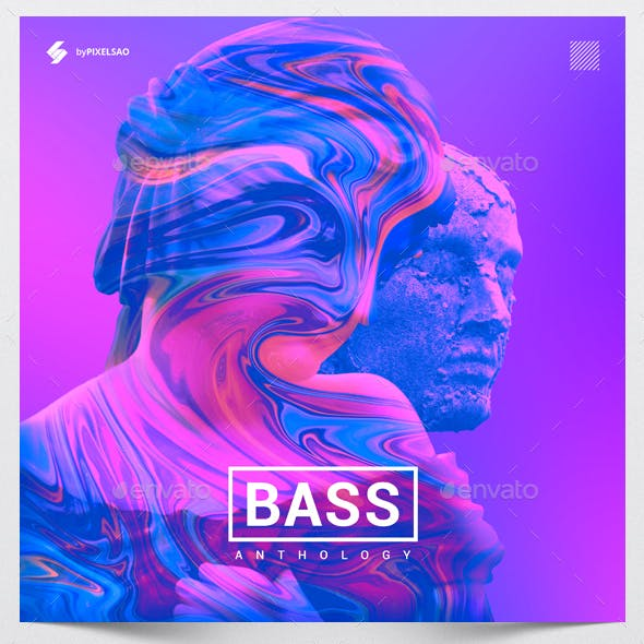 Bass Anthology - Music Album Cover Artwork Template