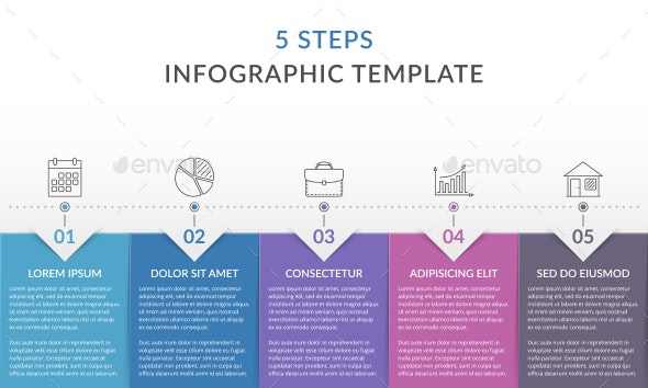 5 Steps - Infographic Template - Infographics