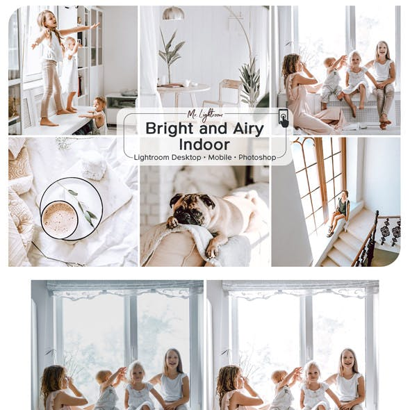 Bright and Airy Indoor Lightroom Desktop and Mobile Presets