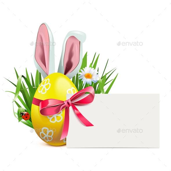 Vector Easter Greeting Postcard - Miscellaneous Seasons/Holidays