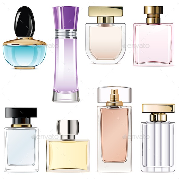Vector Perfume Water Icons - Retail Commercial / Shopping
