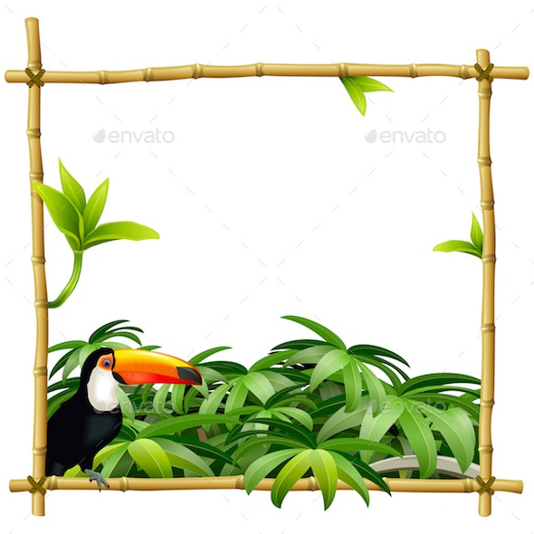 Vector Tropic Bamboo Frame - Travel Conceptual