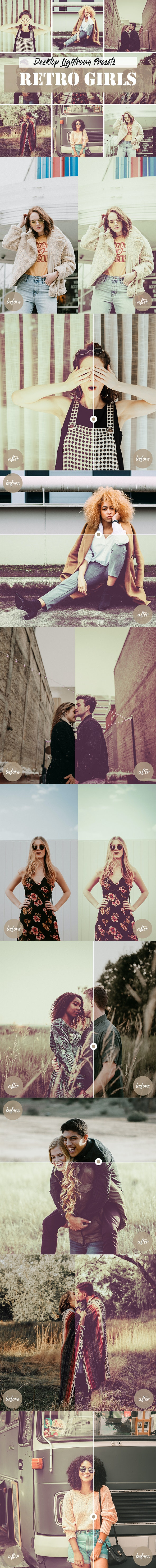 Lightroom Retro Girls Presets - Lightroom Presets Add-ons
