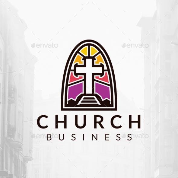 Church Modern Glass Logo