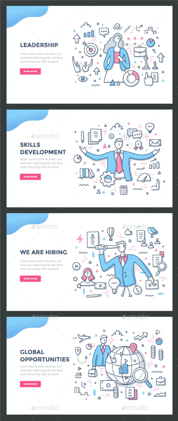 Career Color Line Concepts by koctia | GraphicRiver