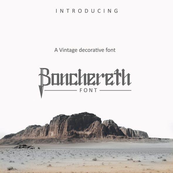 Bonchereth Font