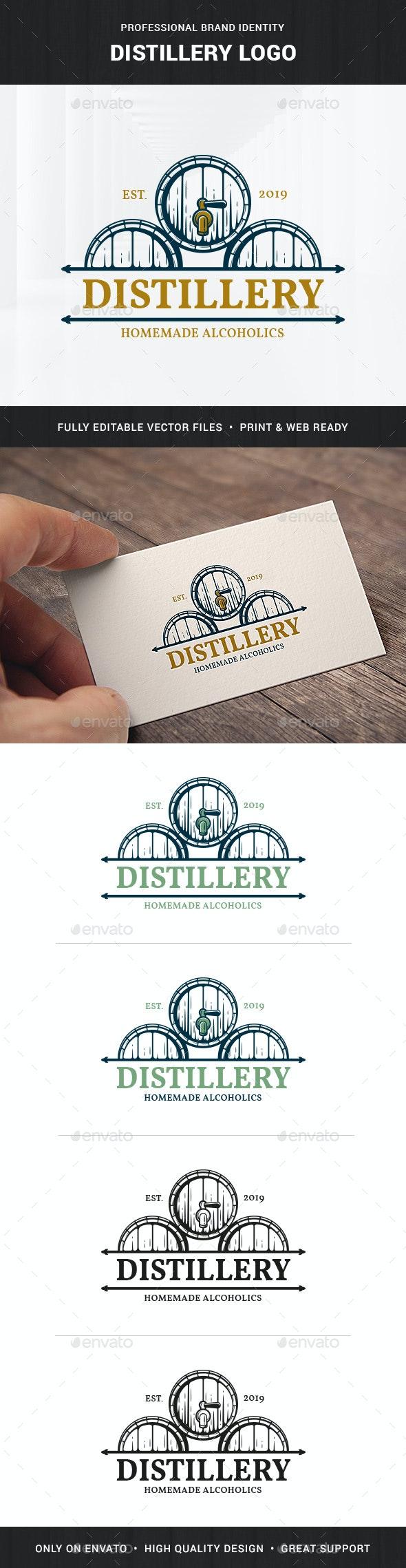 Distillery Logo Template - Food Logo Templates