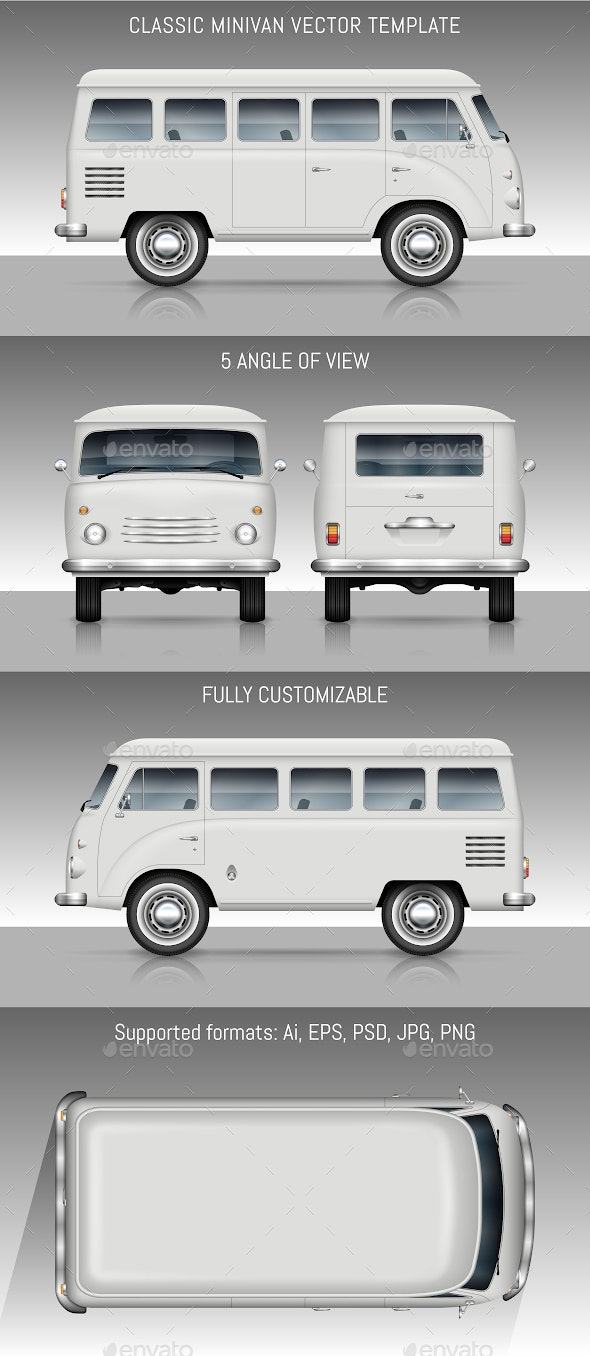 Classic Minivan - Man-made Objects Objects