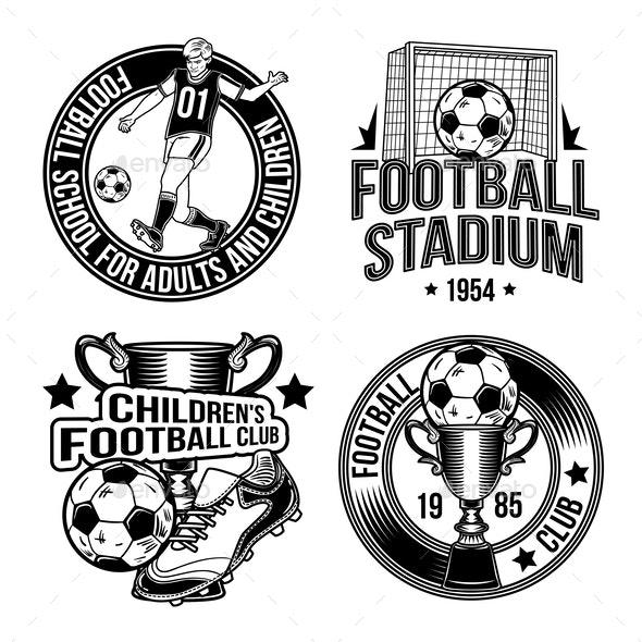 Set of Football Emblems - Sports/Activity Conceptual