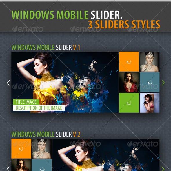 Slider Windows Mobile 7