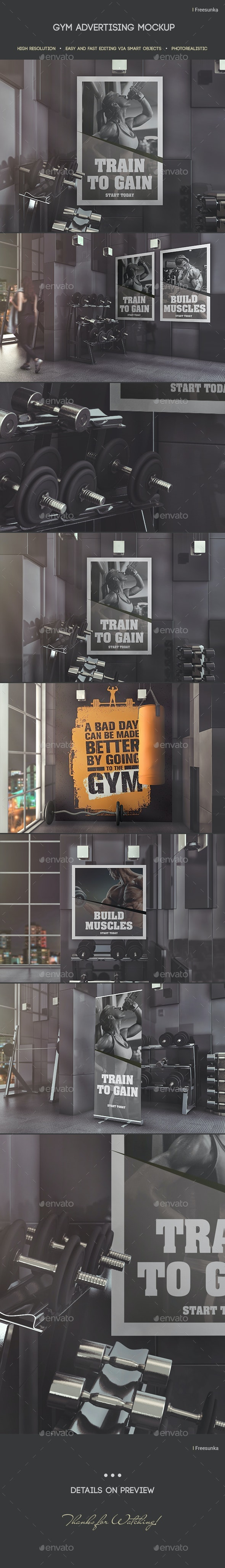 Gym Advertising Mockup - Posters Print