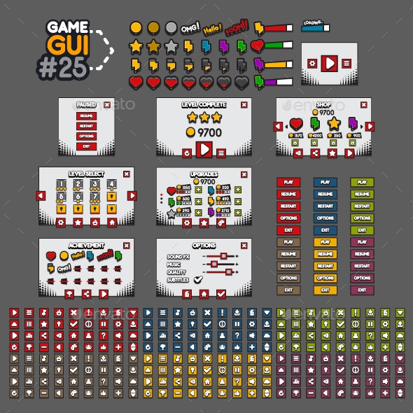 Game GUI #25 - User Interfaces Game Assets