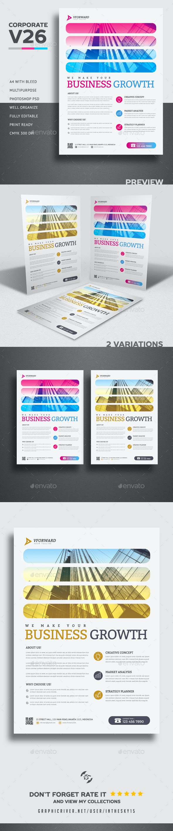 Corporate V26 Flyer - Corporate Flyers