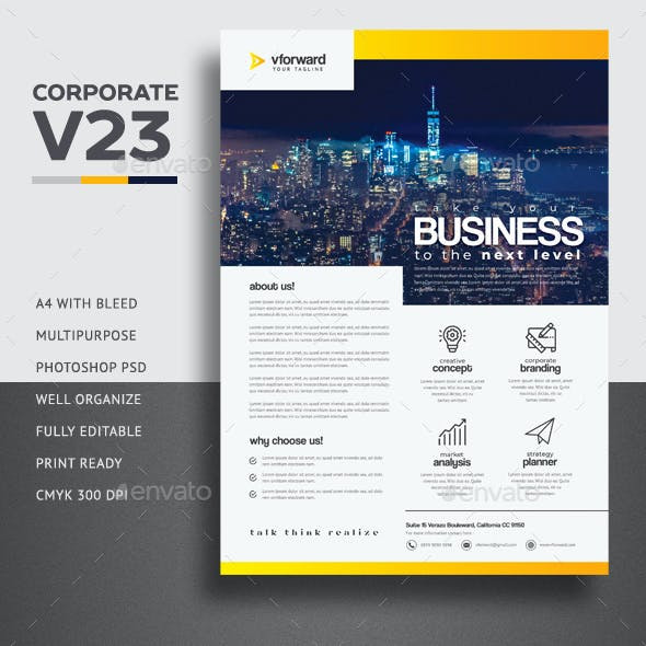 Corporate V23 Flyer