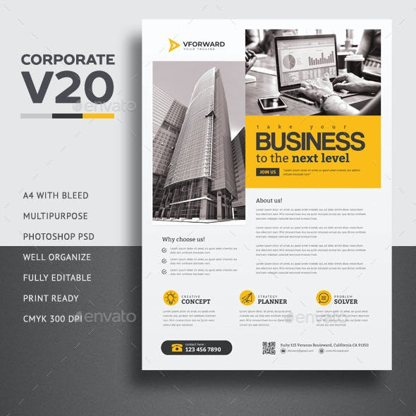 Corporate V20 Flyer