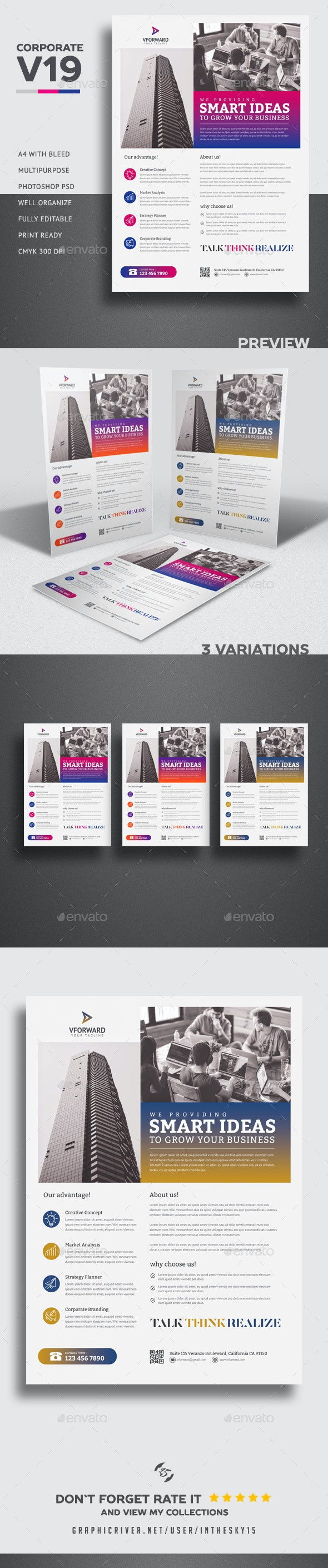 Corporate V19 Flyer Template - Corporate Flyers
