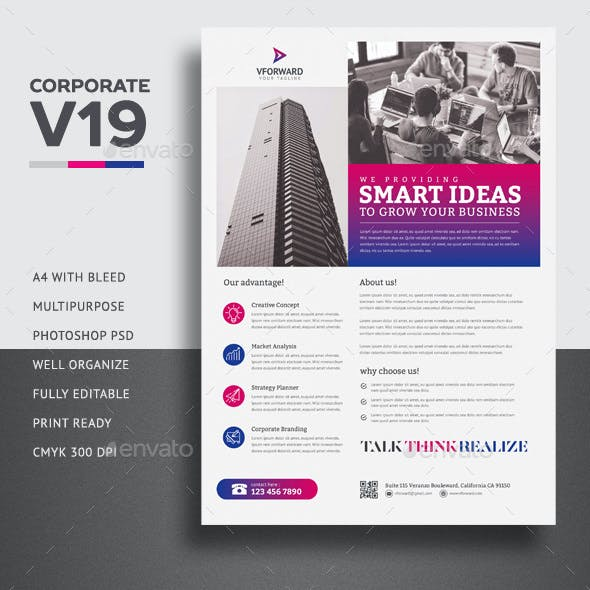 Corporate V19 Flyer Template
