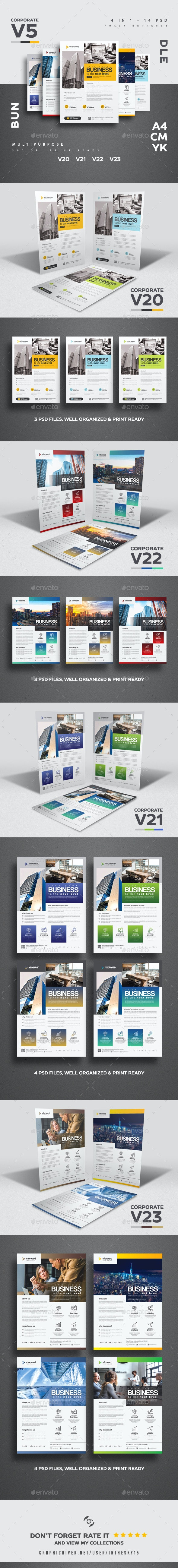 Corporate V5 Flyer Bundle - Corporate Flyers