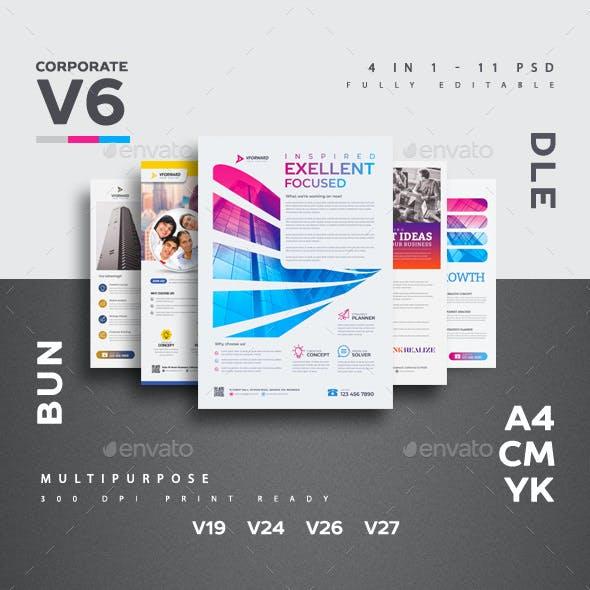 Corporate V6 Flyer Bundle