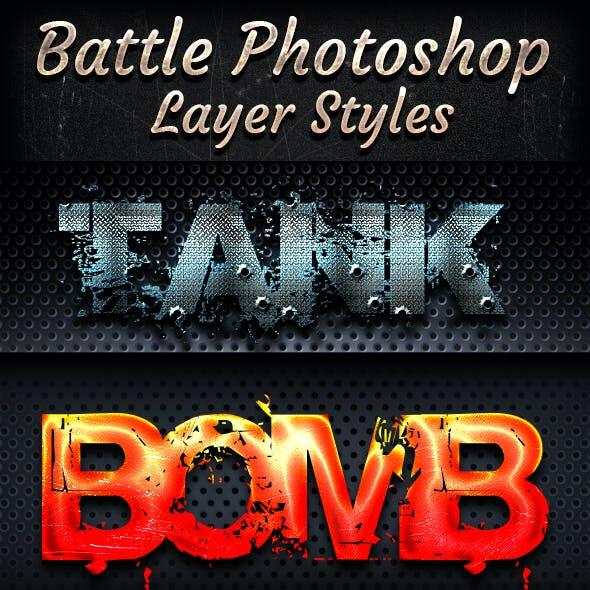 Battle Photoshop Font Style