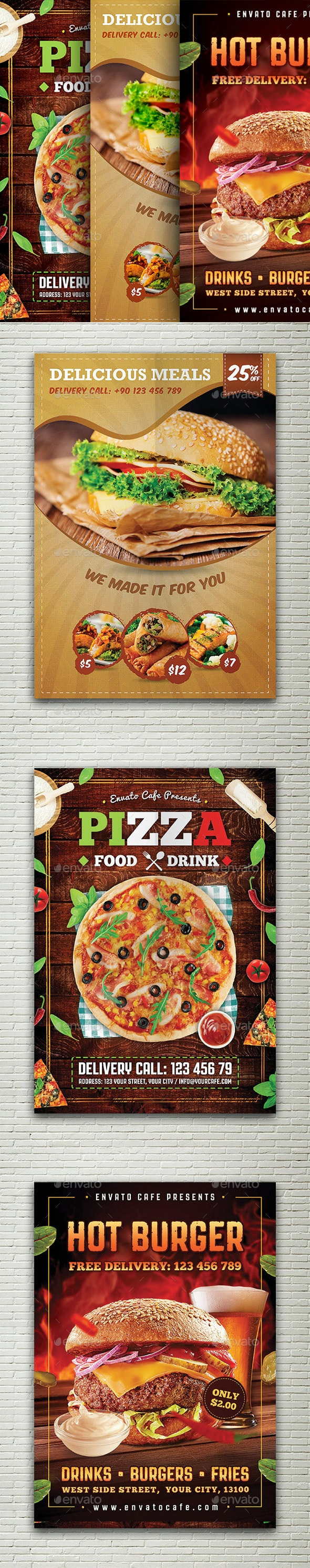 Restaurant Flyers Bundle - Restaurant Flyers