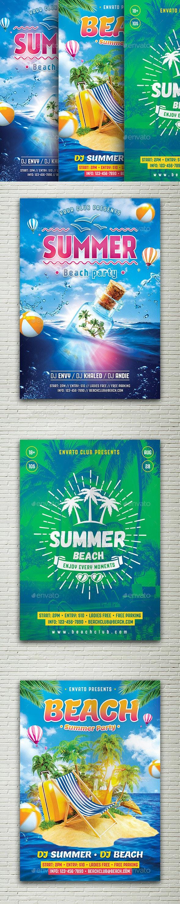 Summer Bundle Flyers - Events Flyers