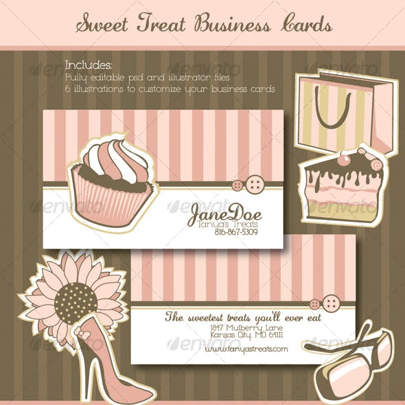 Sweet Treats Business Cards
