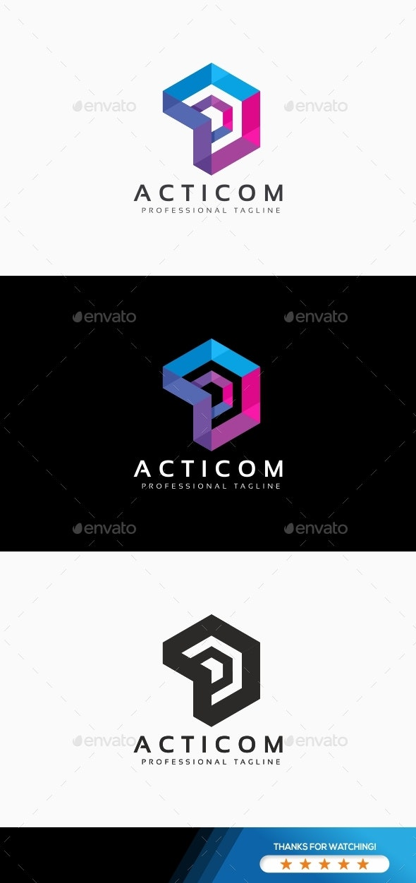 Hexagon Abstract Logo - Abstract Logo Templates
