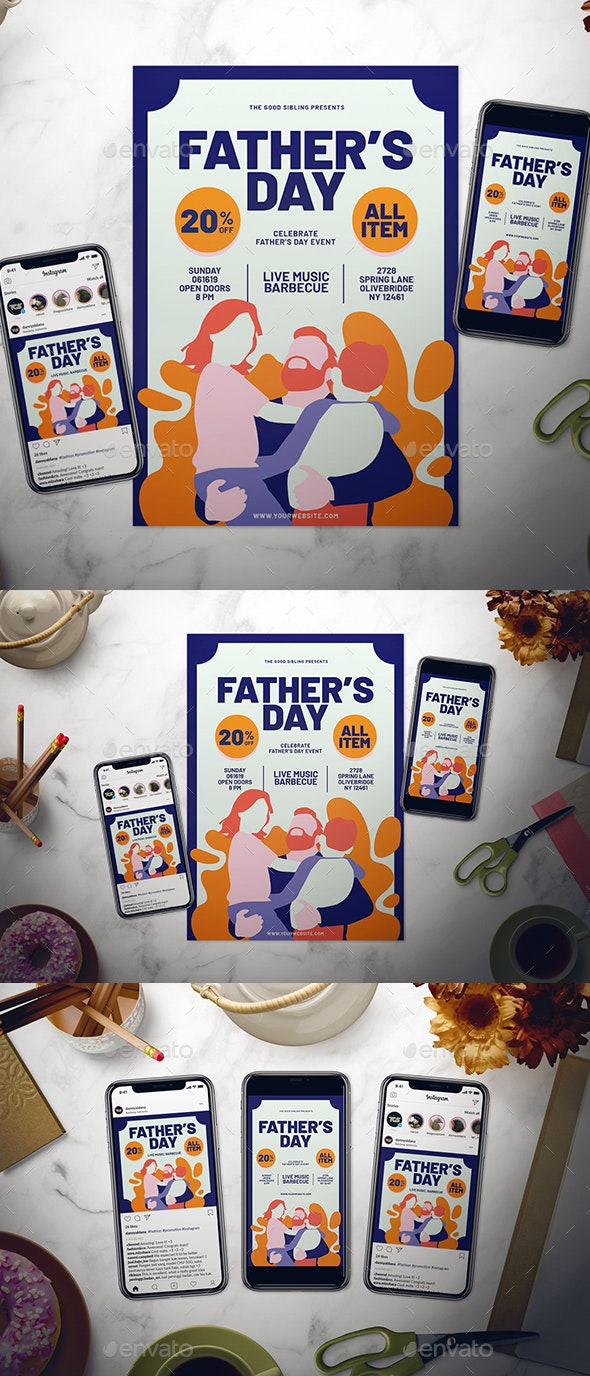 Father's Day Flyer Set - Events Flyers