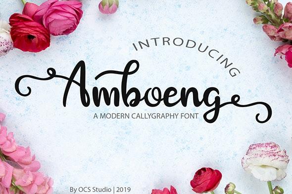 Amboeng - Hand-writing Script