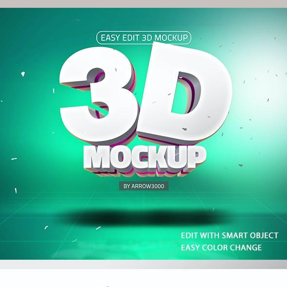 3D Text/ Logo Mockup