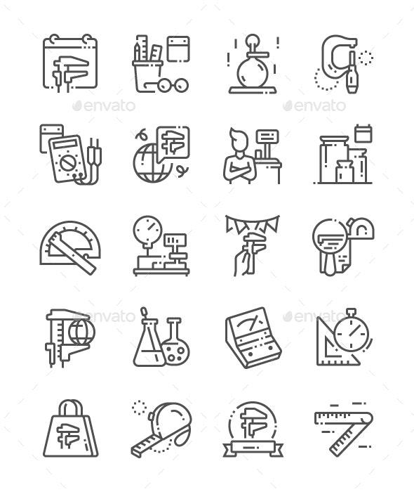 World Metrology Day Line Icons - Seasonal Icons