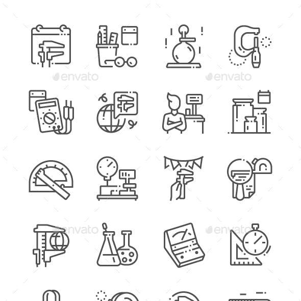 World Metrology Day Line Icons
