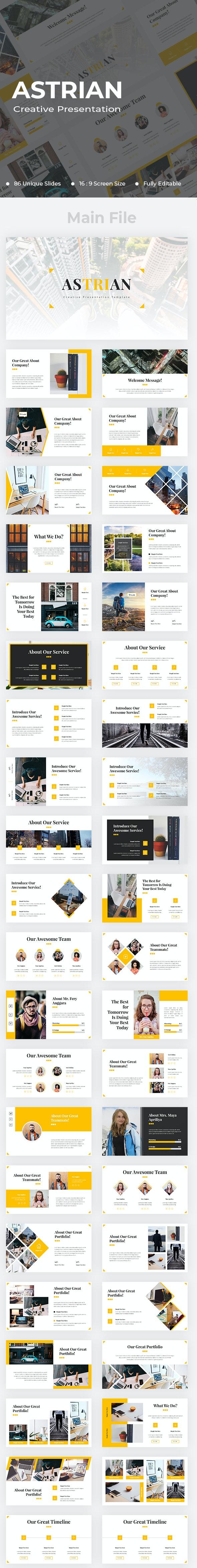 Astrian Creative Google Slides - Google Slides Presentation Templates